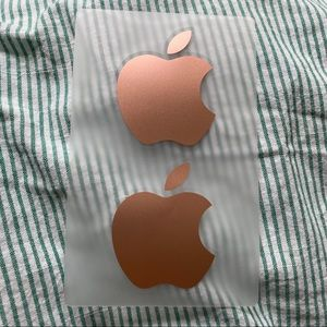 free w purchase rose gold apple stickers